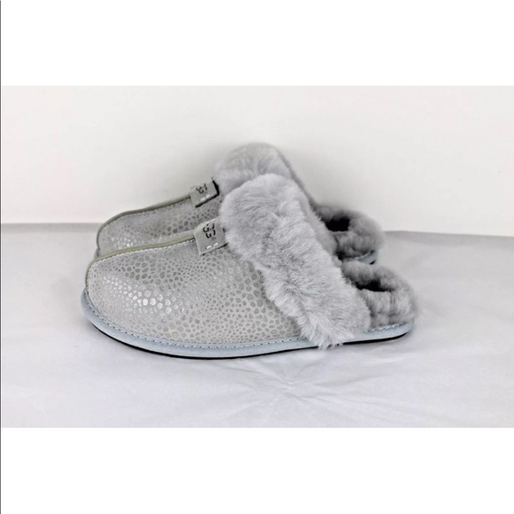 d62695a5912 UGG SCUFFETTE GREY VIOLET GLITZY SUEDE SLIPPERS
